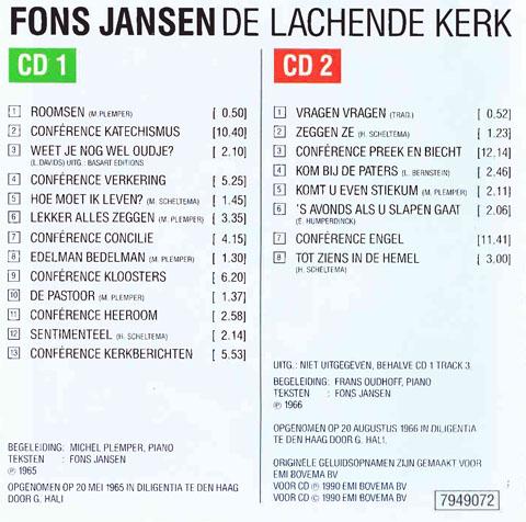 Cd De Lachende Kerk Fons Jansen